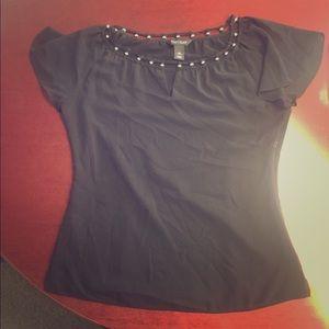 White Black House Market black blouse. Beaded top